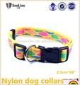 2014 mejor- venta de nylon para perros collares con cinta de costura