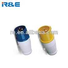 Low Voltage ac 220v 380v 415v 1a 16a 25a 32a 63a Industrial Plugs socket three-phase industrial plug