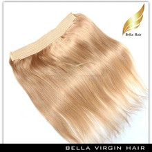 New arrival 100% unprocessed virgin peruvian hair flip in hair extension 1b 18 inch flip in hair extension