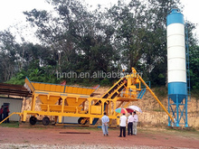 Mobile used small YHZS25 concrete mixing station