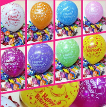 Different size birthday party latex balloons