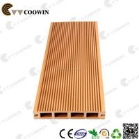 Low maintenance plastic wood patio deck