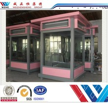 2015 made in China supplier food kiosk prefabricated security guard house cabin