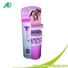 OEM / ODM pos/pop Cardboard Display Stands Printing Brand Cosmetics Mac display