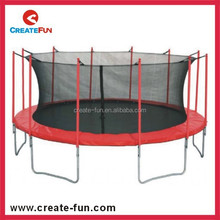 CreateFun 13 FOOT TRAMPOLINE ENCLOSURE FOAM COVERED STEEL POLES WITH NET SAFETY BOUNDARIES