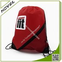 210D Polyester Gym Bag Sport Pack With Side Mesh Bag