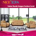 Foshan muebles la fábrica, de lujo de madera tallada y establece sofá de cuero, tapizado sofá moderno a668
