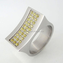 2015 hot fashion forged stainless steel rings,18k gold plated titanium rings