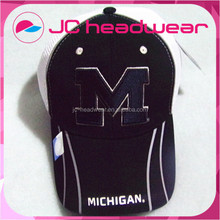 Customized six panel letter embroidered two color flex fit mens trucker cap