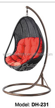 2015 Indoor rattan hanging chair/patio swing with canopy/garden swing(DH-231)