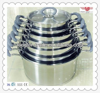 China 7pcs stainless steel cookware,india steel hot pot