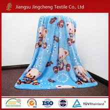 New design polyester flannel fleece blanket/coral fleece blanket printed for baby blanket factory China