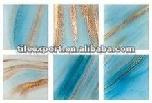 Vitreous Golden Curve Glass Mosaic