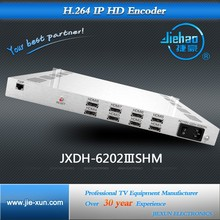 input signal 4 ch A/V or 8 ch HD, iptv encoder, output video over ip through ethernet Gigabit