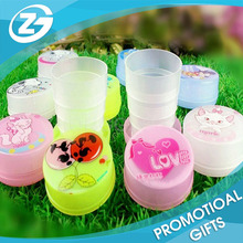 Custom Customer's Advertising Logo/Picture Printed Cartoon Children's Plastic Folding Water Cup/Bottle