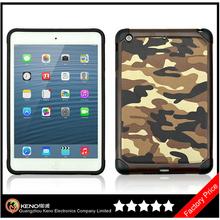 Keno Hot Selling Camouflage Heavy Duty Hybrid Case for iPad Mini Retina