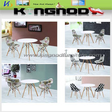 factory price wooden leg MDF top New Design Plastic ebay dining table chairs