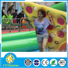 Inflatable water games for fun pizza float for sale