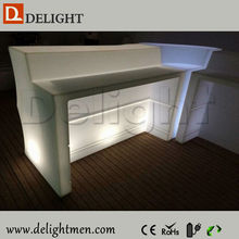 Alibaba China wave shape outdoor illuminated portable cheap bar table sets for outdoor events