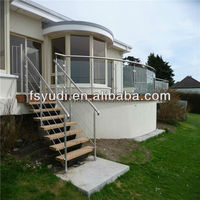 stainless steel terrace railing designs for staircase