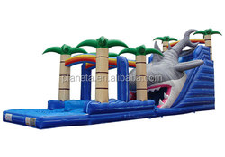 Toy Quality Giant Inflatable Shark Water Slide For Sale