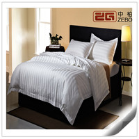 100% Cotton Star Hotel Used with Embroidery Logo White Used Bed Sheets