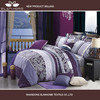 200TC 100% cotton printed bed sheet