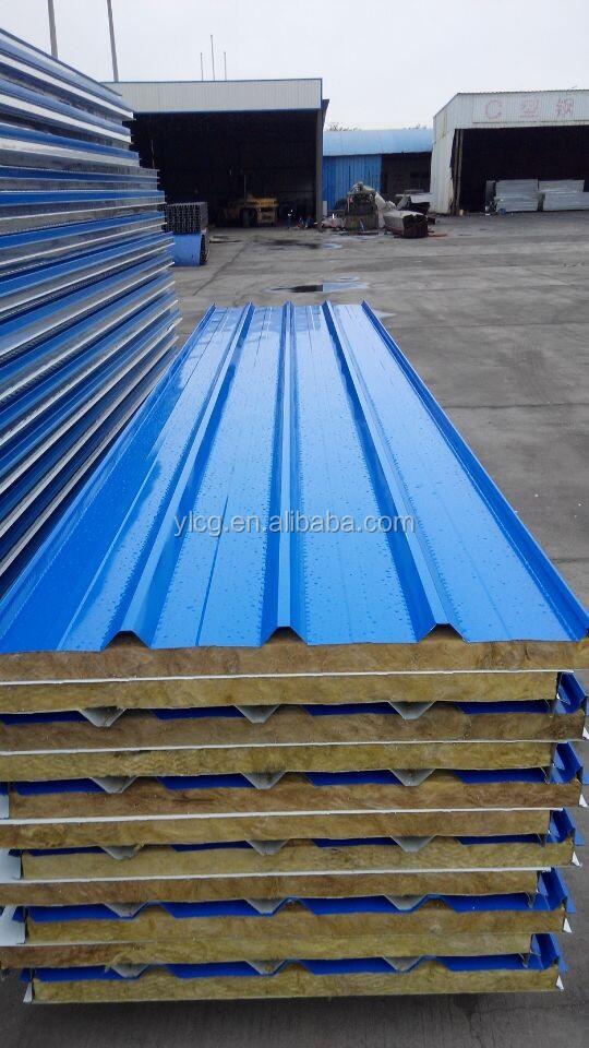 Fireproof Metal Panels : Fireproof corrugated metal roof rockwool sandwich panel