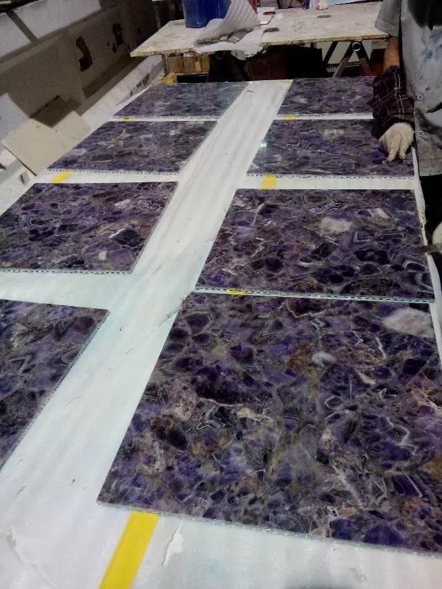 Purple Granite Stone : Purple precious stone granite countertop