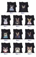 TT0068 Reshine Zipper Closure Wholesale Meow Star Design 12oz Cotton Canvas Tote Bag Girls Handbag