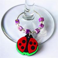 hot selling beautiful wine glass accessory wine charm