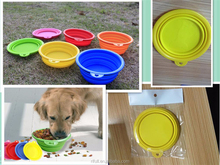 silicone Dog Cat Pet Feeding Bowl /folding water bowl from Rifull factroy
