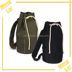 wholesale fashion leisure sports canvas drawstring backpack bag