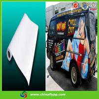 FLY new products 2015 80100 gloss vinyl car sticker, solvent pvc vinyl, adhesive vinyl rolls