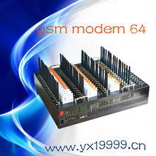 NEW! Bulk sms multi sim gsm modem , high speed quad band 64 sms mms gsm modem , 64 port quectel m35 module support AT command