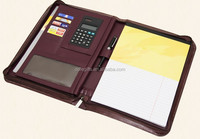 A4 leather portfolio folder handmade leather portfolio folder top quality business portfolio folder with calculator