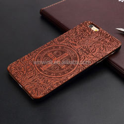 Wholesales Creative Cell Phone Case For Iphone 6 plus Laser carving bamboo phone cover
