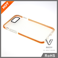 """Hybrid Shockproof soft rugged rubber clear cover case for iphone 6 4.7"""""""
