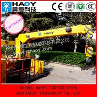 hydraulic truck mounted crane used on the rail crane