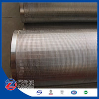 low carbon galvanized steel water well screen pipes 13 3/8 inch
