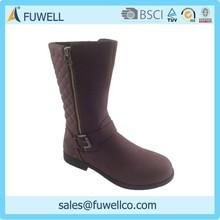 Zipper classical design hot selling women flat boots