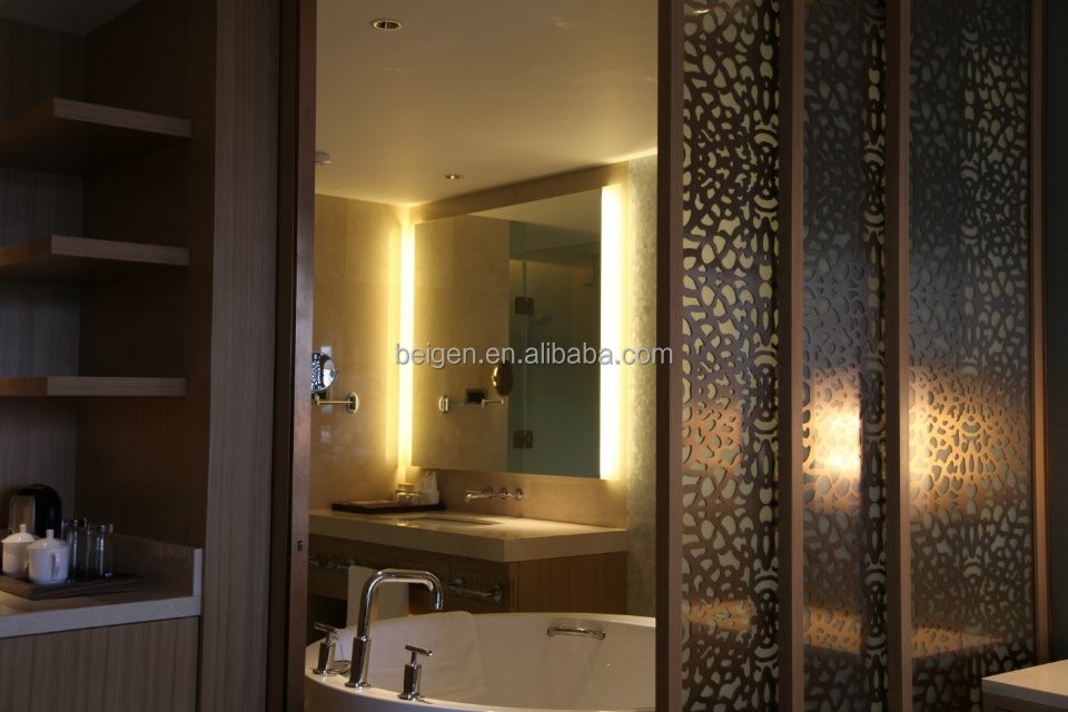Bathroom Vanity Lights Hotel : Hotel Bathroom Mirror With Back Lighting,Modern Bathroom Lighted Vanity Mirror - Buy Bathroom ...
