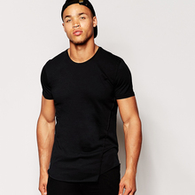 Good price short sleeve blank fitted t-shirt