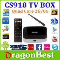 Cs918 q7 Quad Core Tv Box, Android Tv Box Quad Core Cs918, Original Cs918 Quad Core Google Android 4.4 Tv Box