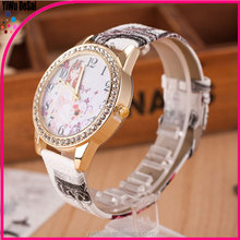 Popular fashion women's watches colorful lady design lady watches printing wholesale watches