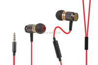 Round cable colorful ear housing mini earphone with microphone