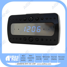 wifi p2p hidden camera real time monitoring Alarm clock with built-in DVR and wifi 1080P alarm camera