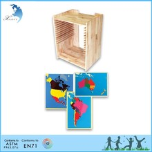 Montessori geography&culture series Four Maps of Europe with Cabinet