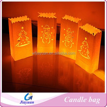 Bar decoration popular sale candle bags, romantic wedding decorative candle bags