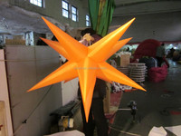 self inflate decor inflatable bendable star